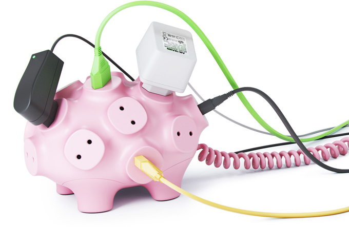 funny pig power strip
